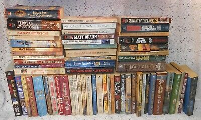 Westerns Paperback Book Lot: 62 by Various Authors