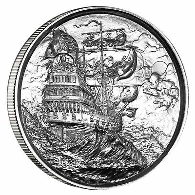 Privateer #1 SILVER 2 TROY OUNCE ULTRA HIGH RELIEF ROUND ELEMETAL ENCAPSULATED