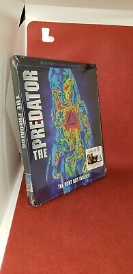 The Predator 2018 BLU-RAY + DVD + DIGITAL COPY Book & Slipcover Target Exclusive