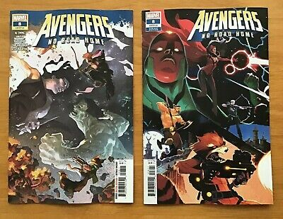 Avengers No Road Home 8 2019 Yasmin Putri Main Cover + Scalera Connecting VAR NM