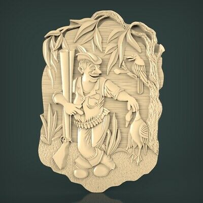 (1233) STL Model Hunting for CNC Router 3D Printer Artcam Aspire Bas Relief