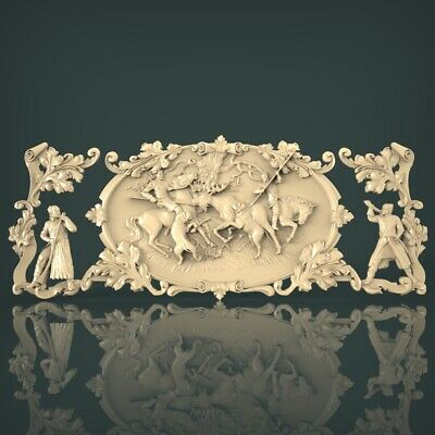 (1234) STL Model Hunting for CNC Router 3D Printer Artcam Aspire Bas Relief