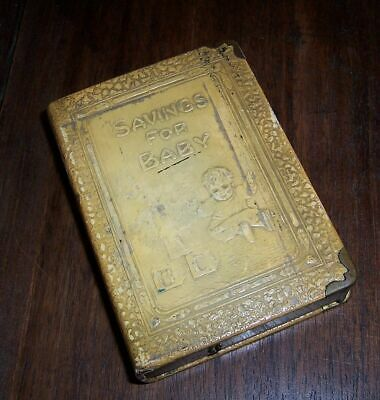 Vintage Book Bank - Savings for Baby - ZELL Prods Co N.Y. - Blocks & Child