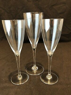 Baccarat Crystal Dom Perignon 2 Claret Wine Glass 1 Water Goblet AS IS