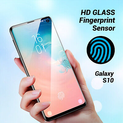 For Samsung Galaxy S10 Full coverage Tempered Glass Screen Protector fingerprint