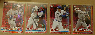 2019 Topps Opening Day Red Foil Target Mega Box Exclusive SP