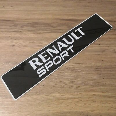 Renault Sport Show Number Plate. Clio, Mégane rs