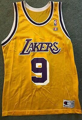 277eb23a9 Rare Vintage Nike NBA Los Angeles Lakers Nick Van Exel Basketball Jersey  Signed