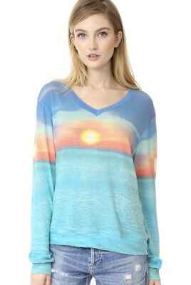 2d4827eab7 Wildfox Sunset Cruise Baggy Beach V Neck Sweater Pullover Sweatshirt Thin  NWT Sm