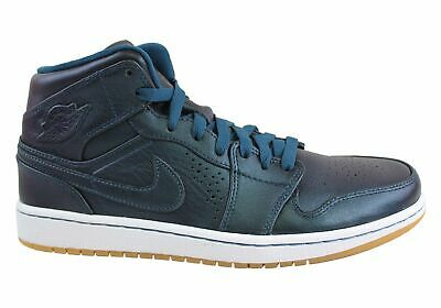 New Mens Nike Air Jordan 1 Mid Nouveau Leather Hi Tops
