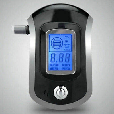 Digital Breathalyzer LCD Police Breath Test Analyzer Alcohol Tester Detector F5