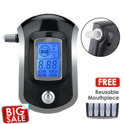 Portable Digital Alcohol Breathalyser Breath Tester Breathtester Blue LCD F5