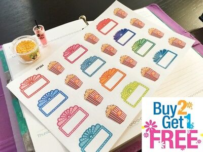 PP189 60pcs Small Book Icons Life Planner Stickers for Erin Condren