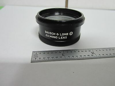 Microscope Part Bausch Lomb Stereo 0.5X Optics As Is Bin#P6-12