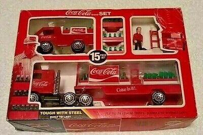 VINTAGE COCA COLA Mack Truck With Accessories Set Buddy L 666L Steel Coke