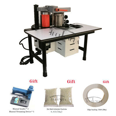 110V 765W Automatic Portable Hand Banding Machine Price Straight Curved Edge