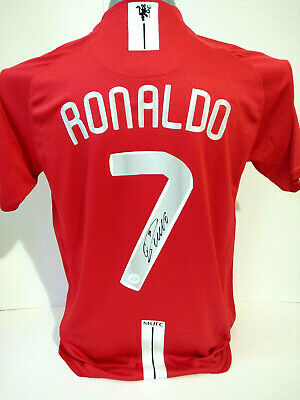 competitive price 8be71 99ad2 CRISTIANO RONALDO SIGNED Manchester United Jersey with COA.