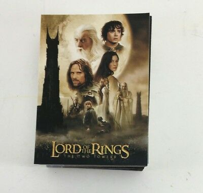 Lord of the Rings Cards Topps 2003 The Two Towers 91-162 card COMPLETE set