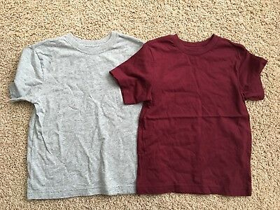 Boys CHILDRENS PLACE GRAY/MAROON  LOT OF 2 SHORT Sleeve T Shirt XS 4