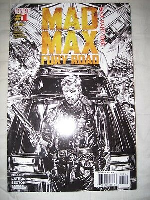 Mad Max Fury Road 1 Sketch B&w Variant - Hit Movie - Tom Hardy, Charlize Theron
