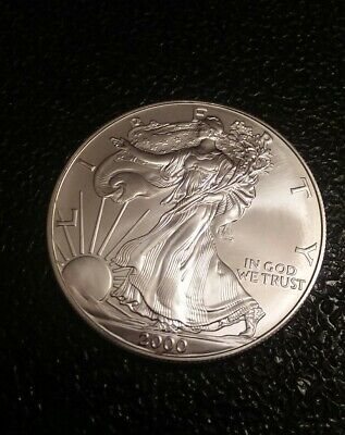 2000 Silver American Eagle BU 1 oz Coin US $1 Dollar Brilliant Uncirculated *20