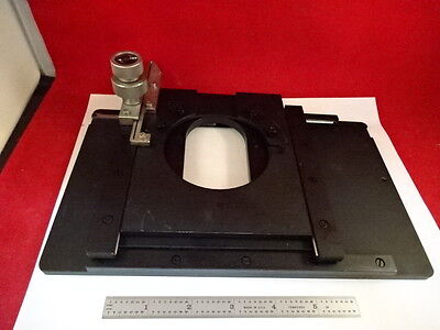 Microscope Part Wild Heerbrugg Swiss M20 Stage Table Micrometer As Is #64-A-03