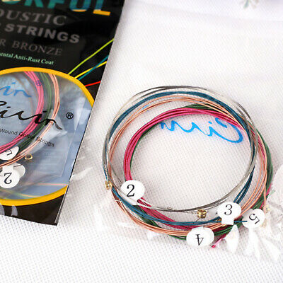 Extra Light  Colourful Acoustic Guitar Strings Phosphor Bronze CA60C-XL1048