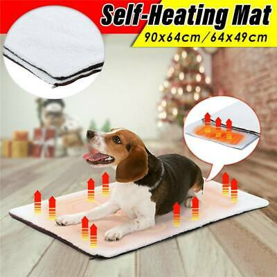 Large Pet Electric Heat Heated Self-heating Mat Heater Pad Blanket Bed Dog Cat