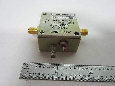 Mini Circuits Rf Amplifier Frequency Zfl-2000 Bin#K1-13