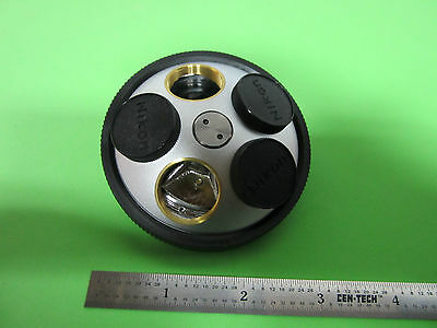 Microscope Part Nikon Japan Objective Turret Optics Bin-14B