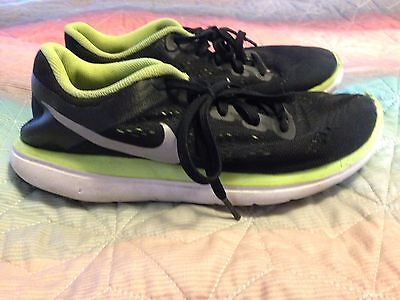 efe00e7a75b08 Nike Flex 2016 Rn (Gs) Black Yellow 834275-004 Size Y6 Sneakers Running
