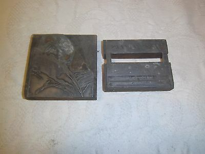 Vintage printing plate Jeff Jeffers and  Jefferson plates