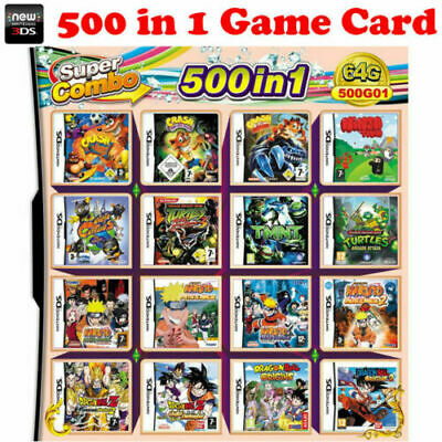 500 In 1 Video Game Cartridge for Nintendo DS DSL 2DS 3DS DSI FREE SHIPPING