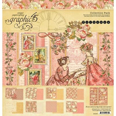"""NEW  Graphic 45 12"""" x 12"""" Paper Collection Princess"""