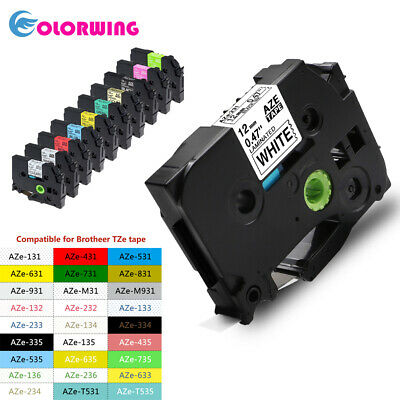 TZe231 Label tape Compatible Brother P Touch printer 12mm 1/2'' mix color PTD210