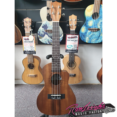 Tanglewood TUT16E Tiare Series Koa Electric Tenor Ukulele with Padded Gig Bag