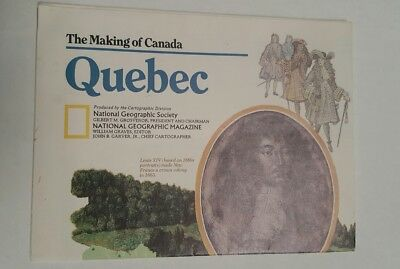National Geographic Mag -supplement map quebec canada  - free post