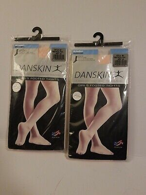 215235a7d3aec Danskin 387 Girl's Large (12-14) Theatrical Pink UltraSoft Footed Tights