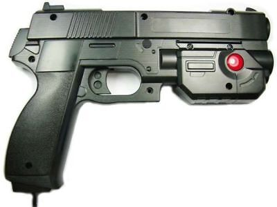 "AimTrak Light Gun Boxed ""BLACK"" assembled By Ultimarc works on MAME/PS2 NIB"