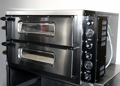 Brand New Twin Deck Pizza Oven (Single Phase Elec.) £975+VAT