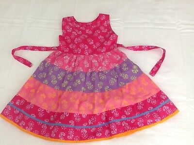 BRAND NEW Girls Unique Boho Hippy Cotton Dress / Pinafore Fit Girl Age 3 Years