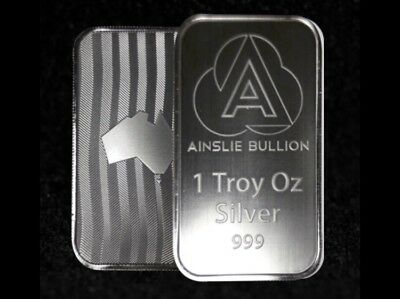 2 X 1 oz Ainslie Silver Bullion Bar - Purchased Straight From The Mint