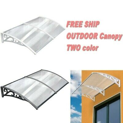Door Canopy  Awning Shelter Front Back Porch Outdoor Shade Patio Rain Cover NEW