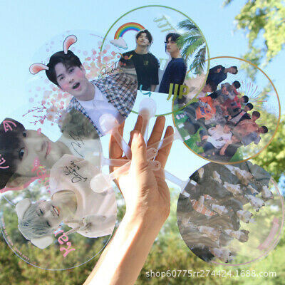 Portable Mini Hand Fan Kpop GOT7 EXO Bangtan Boys Transparent PVC Fan Summer New