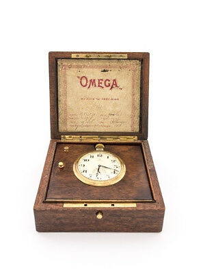 Extremely rare OMEGA table clock chronometer, 1940s