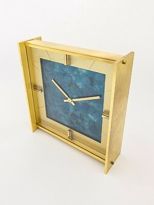 Extremely rare Jaeger-LeCoultre table clock with 8 day movement ,1960´s