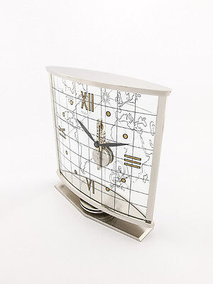 Rare Jaeger-LeCoultre table clock with 8 day inline movement ,1950´s