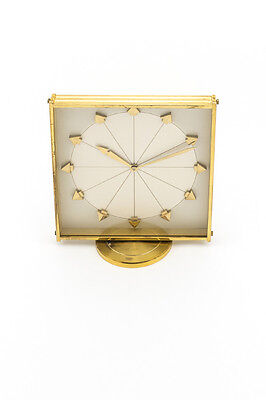 Rare Jaeger-LeCoultre table clock with 8 day movement, 1960´s