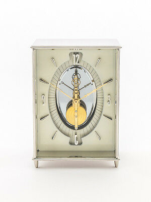 Rare Jaeger-LeCoultre table clock with 8 day baguette movement, 1940´s