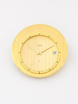 Beautiful Jaeger-LeCoultre table desk clock with 8 day movement and date, 1960´s